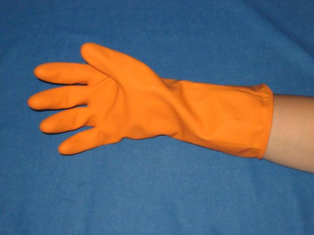 Latex Huishoudhandschoen oranje