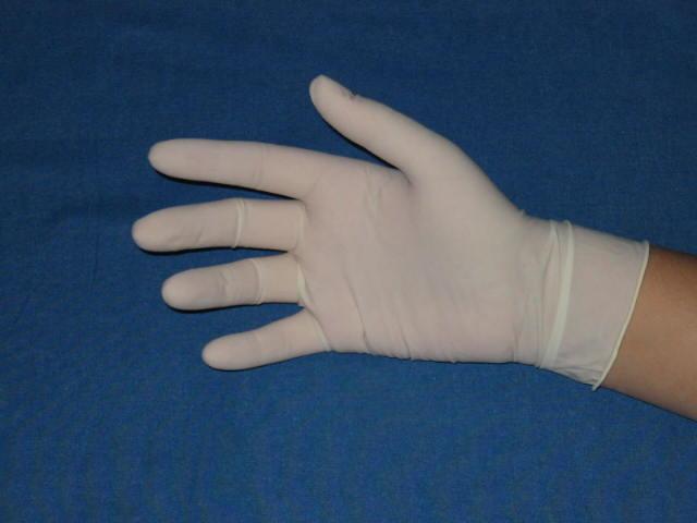 Wegwerphandschoenen Latex wit