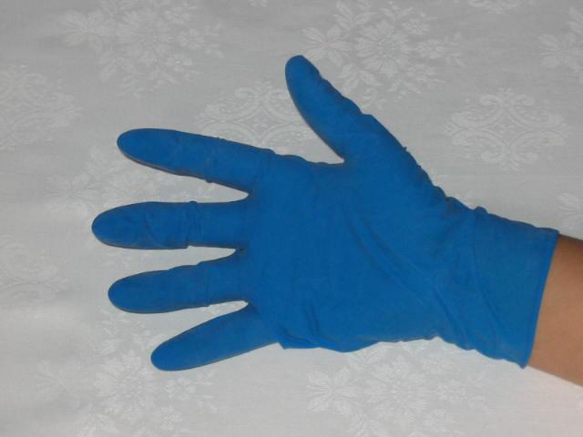wegwerphandschoenen latex blauw