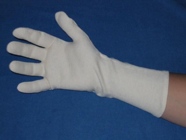 Tricot handschoen lang.